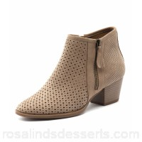EARTH Women pineberry stone suede Pin punch detailing Stacked heel EA10049-NGM-SU ELHYVTG