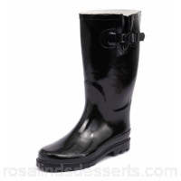GUMBOOTS Women glossy black glossy black rubber GB10007-BOZ-BZ CMWHPJD