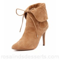 HUMAN PREMIUM Women matilda hu camel suede Fold over cuff with lace up Pointed toe HU10016-N58-SU KHYVQLB