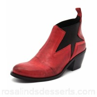 MARIA ROSSI Women calli red nubuck Burnished upper Elastic gussets MA10015-RED-AG ZIAYVGJ