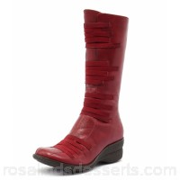 MIZ MOOZ Women orso red leather Elastic strapping on front Functional side zip MM10013-RED-LE AMNJSML