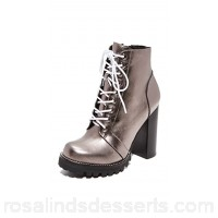 Jeffrey Campbell Women Legion Lace Up High Heel Booties Pewter JEFFC40615 YYXPSRX