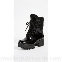 KENDALL + KYLIE Women Paxton Lace Up Boots Black KENDA30432 WZGHFEU