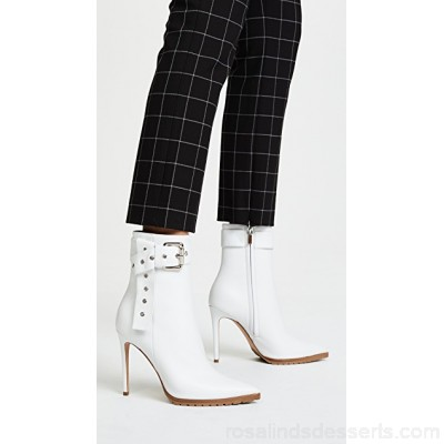Monse Women Leather Booties White MNSEE30110 RMFHVDB