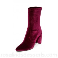 Stuart Weitzman Women Clinger Stretch Booties Bordeaux STUAR20775 COKNPXO