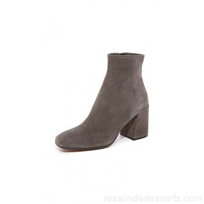 Vince Women Highbury Classic Square Toe Ankle Booties Pewter VINCE48839 GIJTTIV