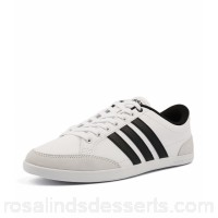 ADIDAS NEO Men caflaire lo white black bla smooth Vulcanised rubber outsole for grip and classic look AN10005-WDN-SM KOWBQSZ
