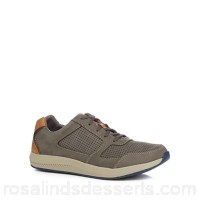 Men Clarks - Grey suede 'Sirtis Mix' trainers Upper suede Lining textile DHJILRY