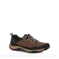 Men Clarks - Light brown suede 'Baystone Run Gorete' trainers Upper Suede / textile Lining Textile GHGKJYP