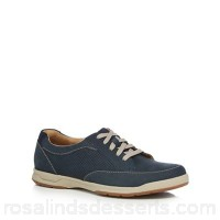 Men Clarks - Navy suede 'Stafford Parks' trainers Upper suede Lining textile DTTWRGK