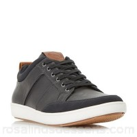 Men Dune - Black 'Tristan' stitch detail bumper trainers Fastening lace up Upper synthetic KINRKKQ