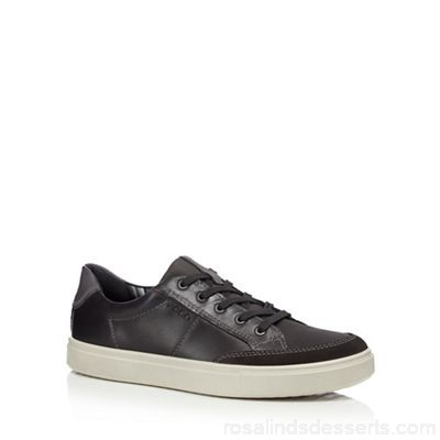 Men ECCO - Grey leather 'Kyle' trainers Upper Leather Lining Leather textile RRCOGEW