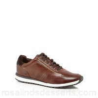 Men J by Jasper Conran - Tan leather 'Trento' trainers Upper Leather Lining Leather JRESLMJ