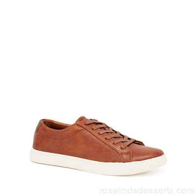 Men Red Herring - Tan 'Dylan' lace up trainers Upper Man made materials Lining Man made materials VGODAUI