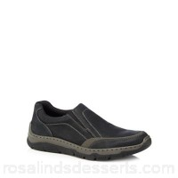 Men Rieker - Black leather slip-on trainers Upper Leather Lining Textile XMRDDZM