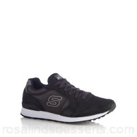 Men Skechers - Black 'Early Grab' trainers Upper Leather textile Lining Textile JMUINKS