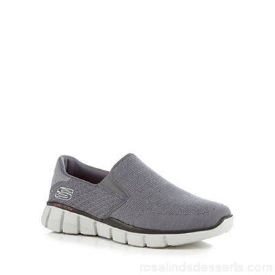 Men Skechers - Grey 'Equalizer 2.0' slip on trainers Upper Textile Lining Man made materials ZRMHBLE