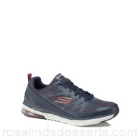 Men Skechers - Navy 'Air Infinity' trainers Upper Textile Lining Textile UEVNVZU