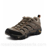 MERRELL Men moab ventilator walnut leather Bellows tongue keeps debris out Merrell M Select™ FITECO blended EVA contoured footbed with organic odour control ME10021-TAG-LE FCQUATZ
