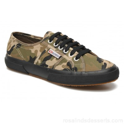 Superga 2750 Cotu Camou Mens Sneakers Spring/Summer Dk Green Camouflage 89058 CLSPXSS