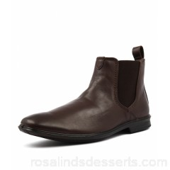 HUSH PUPPIES Men chelsea hp brown leather Wide fit Bounce Technology HP10014-BRO-LE YRMGBDS