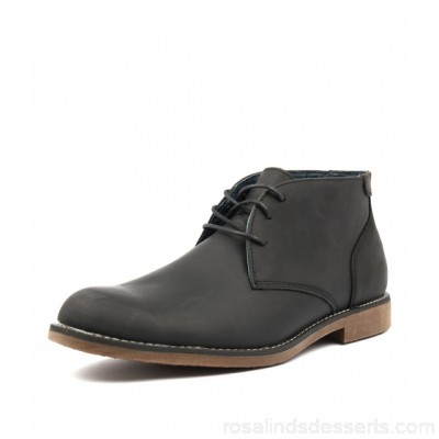 HUSH PUPPIES Men terminal black rub leather Lace-up front HP10066-BLA-BY CSNVHZS