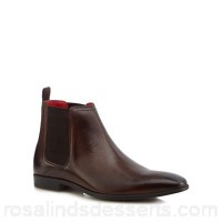 Men Base London - Brown leather 'Guinea' Chelsea boots Upper Leather Lining Leather textile KIAPVRB