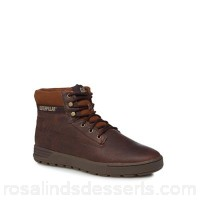 Men Caterpillar - Brown leather 'Ryker' lace-up boots Removable footbed Lace fastening FKXVYUG