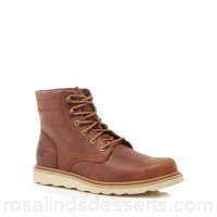 Men Caterpillar - Tan leather 'Cronical' lace up boots Upper Leather Lining Textile TOAUZSY