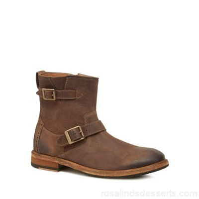 Men Clarks - Brown leather 'Clarkdale Cash' boots Upper Leather Lining Leather / textile EISTEGR