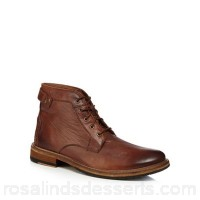 Men Clarks - Dark tan leather 'Clarkdale Bud' lace up boots Upper Leather Lining Leather textile PSNMPLX