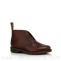 Men Dr Martens - Brown leather 'Sawyer' Desert boots Upper Leather Lining Leather textile URRUONJ