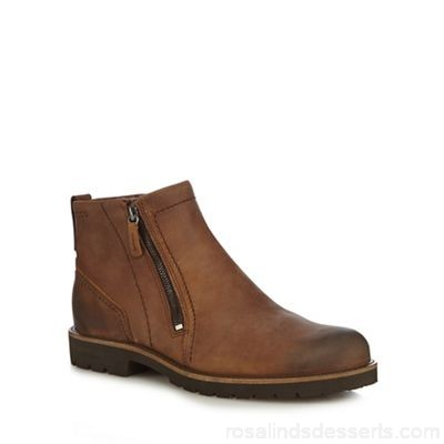 Men ECCO - Brown leather 'Jamestown' boots Upper leather Lining leather textile RKEXJYN