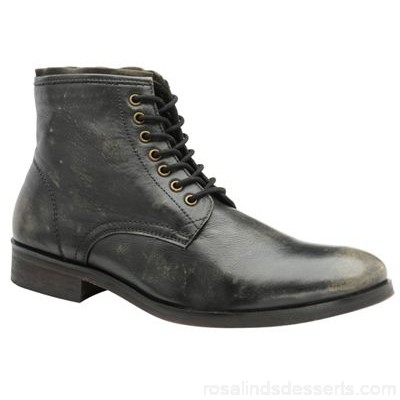 Men Frank Wright - Black 'Clyde' men's lace up derby boots Fastening lace Upper leather RYLDRAY