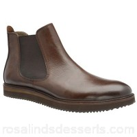 Men Frank Wright - Brown 'Edwin' men's slip on chelsea boots Fastening slip on Upper leather VYTGQWT