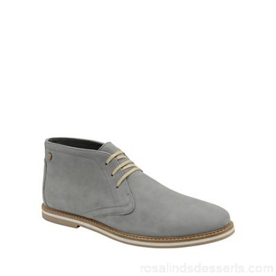 Men Frank Wright - Grey 'Bath' men's flat lace up boots Fastening slip on Fit standard QGMBCNL