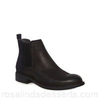 Men G-Star - Black 'Warth' Chelsea boots Removable footbed Lace fastening UDQMTID
