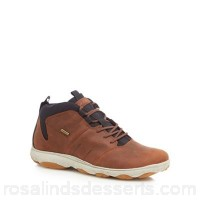 Men Geox - Light brown 'Nebula' walking boots Upper Leather textile Lining Leather textile GEFOQKO