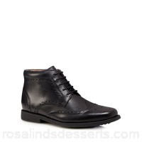 Men Henley Comfort - Black leather 'Thames' wide fit Chukka boots Upper Leather Lining Leather textile KQRZFGF