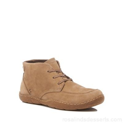 Men Hush Puppies - Taupe leather 'Finnian Sway' chukka boots Upper Leather Lining Leather KOVJHWR