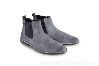 Men Joe Browns - Blue distressed finish Chelsea boots Upper leather/textile Lining/sock textile/polyurethane DAMISED