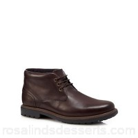 Men Maine New England - Brown leather Chukka boots Upper Leather Lining Textile AOMSVIS