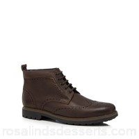 Men Maine New England - Dark brown 'Port' leather brogue boots Upper Leather Lining Textile HERITUN