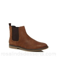 Men Original Penguin - Tan suede 'Lesta' Chelsea boots Upper Suede Lining Textile / leather MMQJMAK