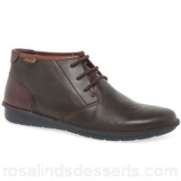 Men Pikolinos - Brown leather 'Arenas' casual ankle boots Fastening lace up Upper leather SZONVIE