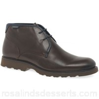 Men Pikolinos - Brown leather 'Garrow II' ankle boots Fastening lace up Upper leather HNDFCEO