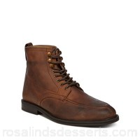 Men Red Herring - Brown leather 'Alloy Apron' lace up boots Upper Leather Lining Man made materials GYYYEYB