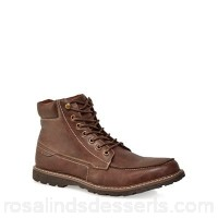 Men Red Herring - Brown leather 'Nova' lace-up boots Lace fastening Upper Leather BUYDMPO