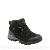 Men Regatta - Black holcombe walking boot PU nubuck and breathable mesh upper Hydropel water resistant technology ASEOCAX