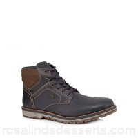 Men Rieker - Tan leather lace-up boots Zip and lace fastening Upper Leather NWKZBHD